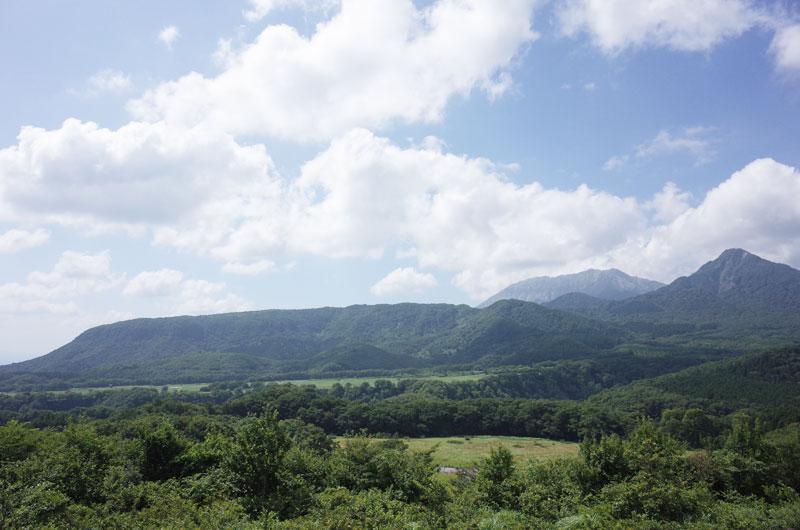 鬼女台展望休憩所から見える大山