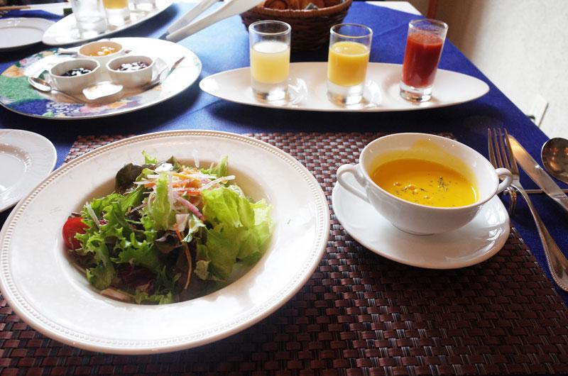 大山レークホテルの朝食