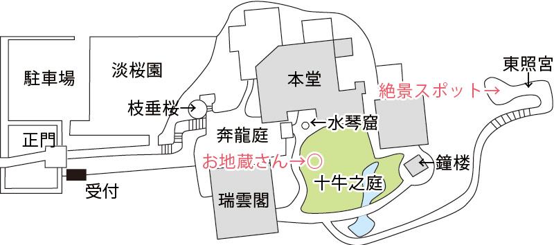 圓光寺のお地蔵さんの場所
