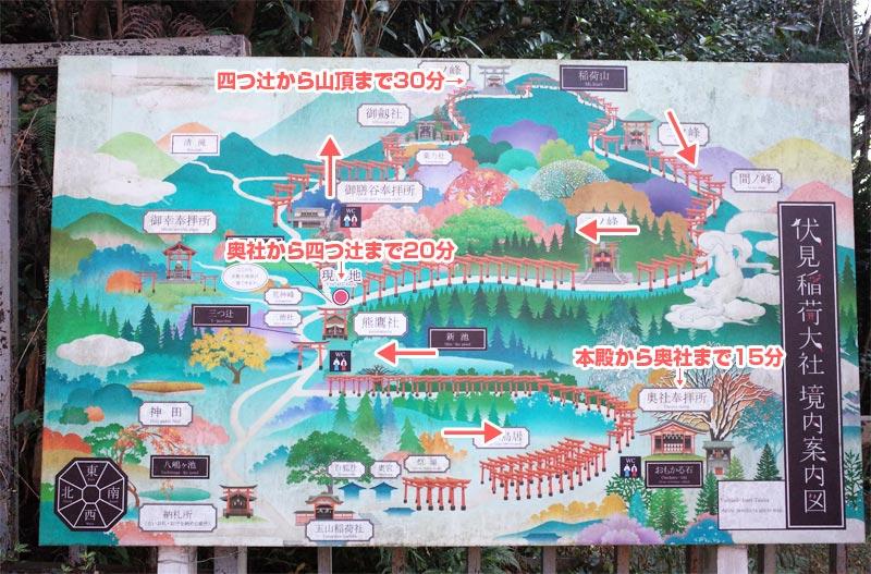 伏見稲荷の地図
