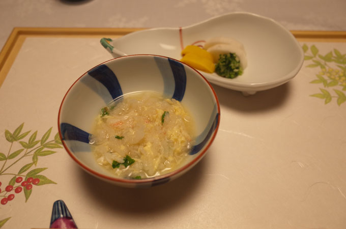 中の坊瑞苑の夕食