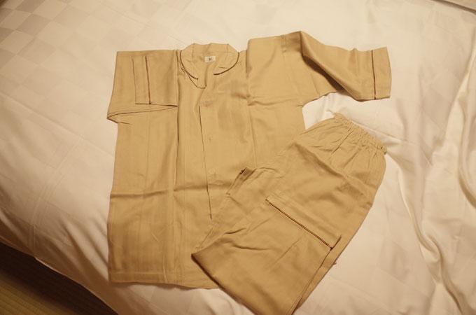 中の坊瑞苑のパジャマ