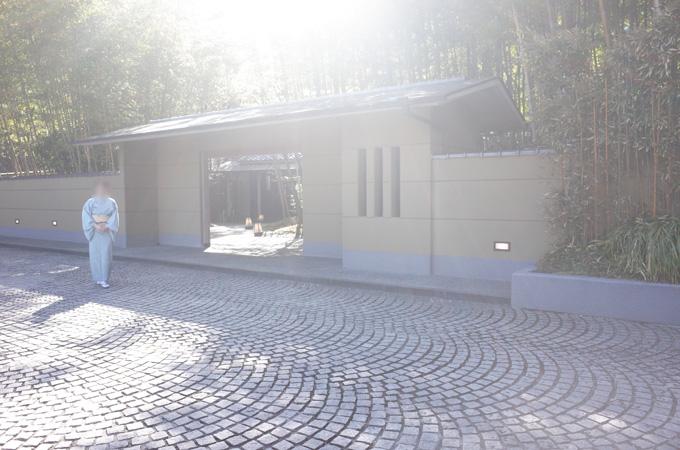 欽山の入口