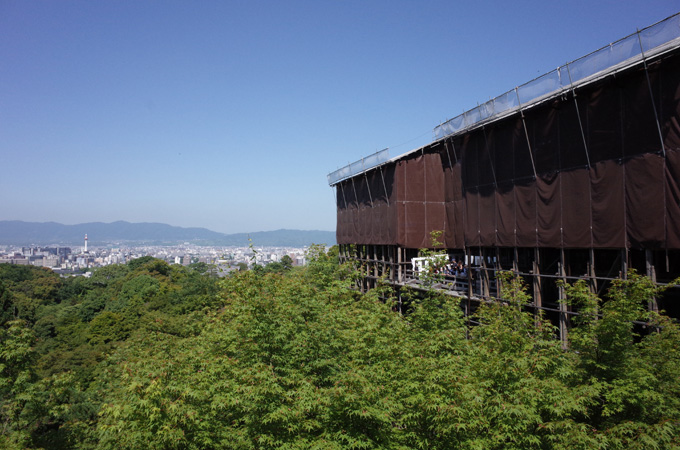 清水寺の舞台からの景色