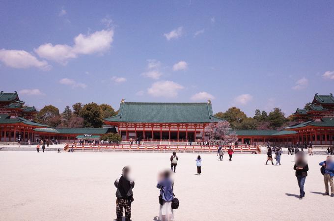 平安神宮の拝殿