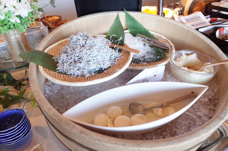 日本平ホテルの朝食ビュッフェ 和のメニュー