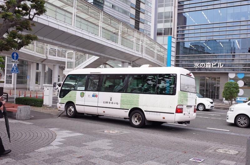 日本平ホテルの無料のシャトルバス