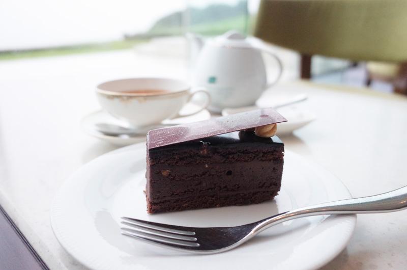 日本平ホテルのラウンジでのケーキセット