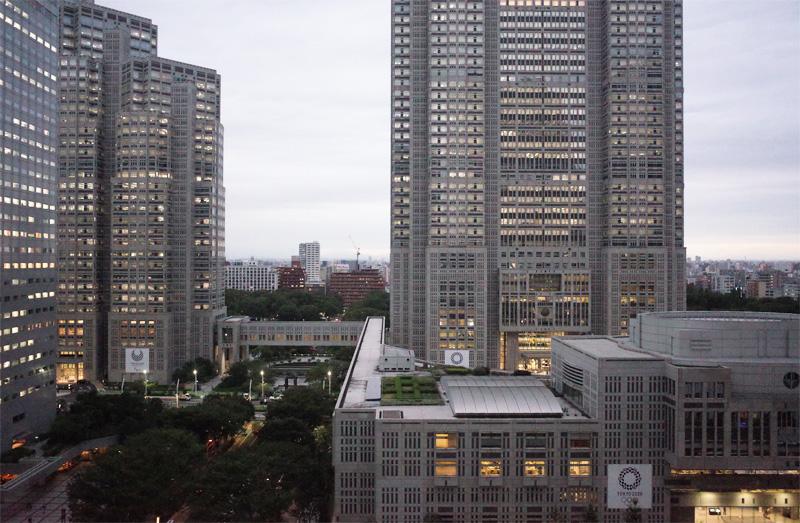 京王プラザホテル新宿から見える都庁