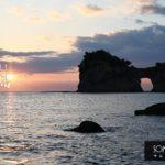 円月島の夕日を見る場所はどこから?行き方と撮影スポットをご紹介!
