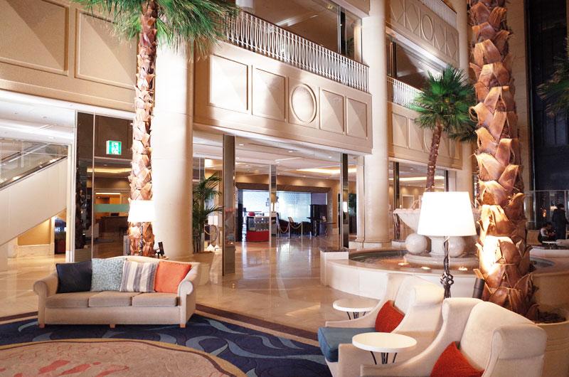 神戸メリケンパークオリエンタルホテルの素敵なロビー空間