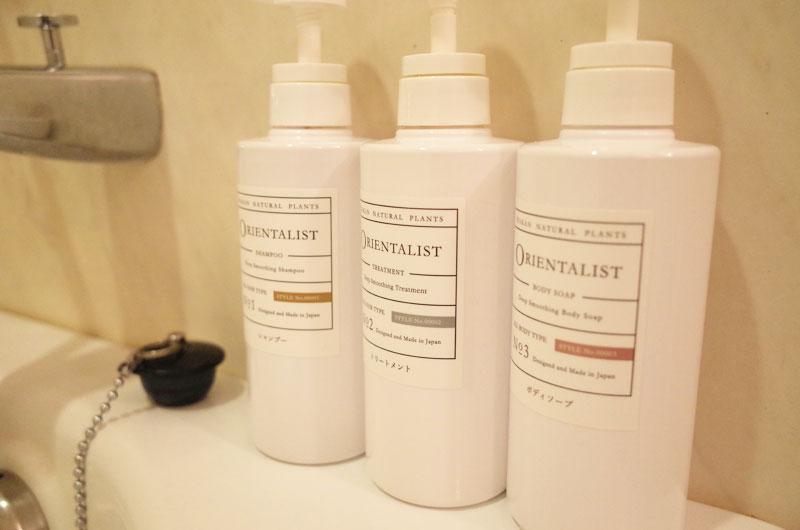 神戸メリケンパークオリエンタルホテル お風呂場のアメニティ