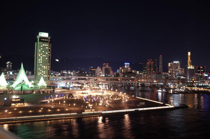 神戸メリケンパークオリエンタルホテルからの神戸の夜景
