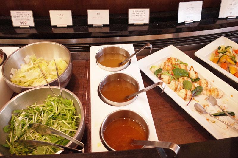 神戸メリケンパークオリエンタルホテル 朝食バイキング ドレッシング