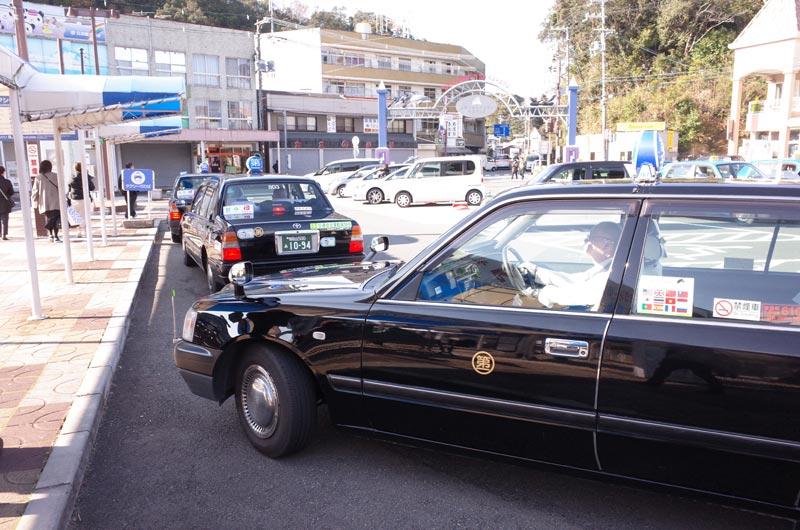 白浜駅のタクシー乗り場