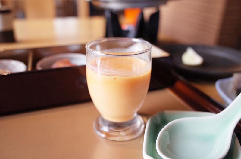 琴平花壇の朝食の野菜ジュース