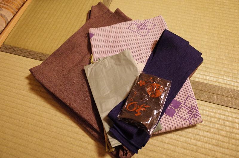 琴平花壇のアメニティ 浴衣