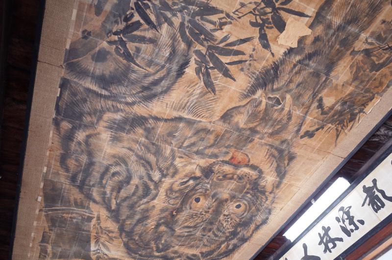 花岳寺の虎の絵