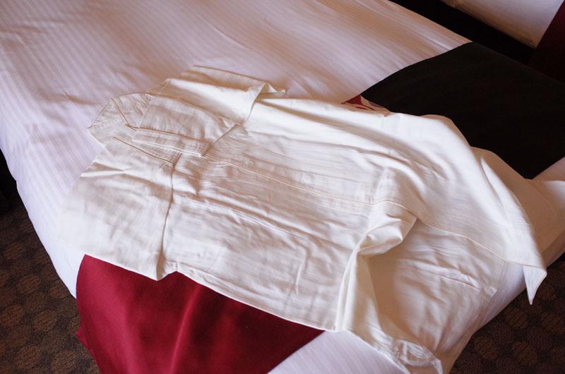 神戸ポートピアホテル宿泊記 アメニティのパジャマ