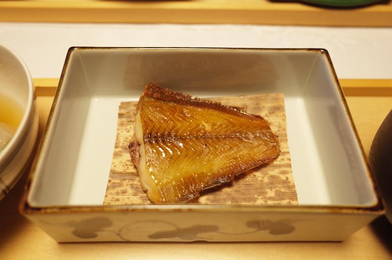 中の坊瑞苑の朝食 和食の焼き魚