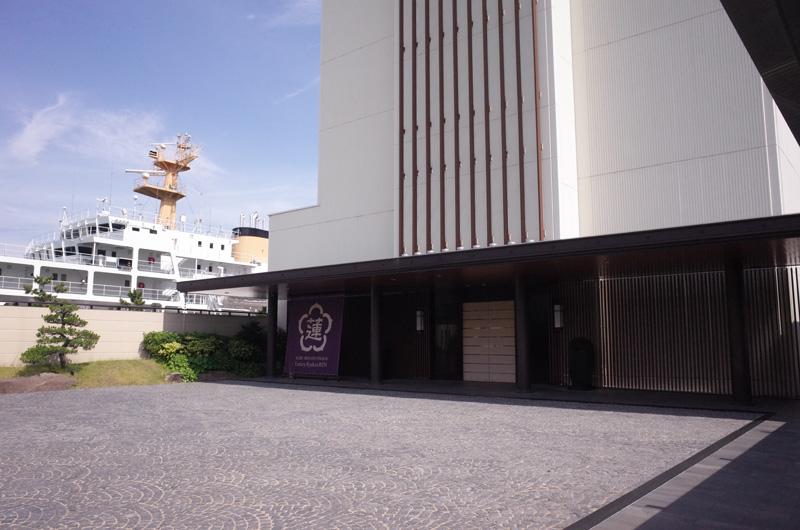 神戸みなと温泉「蓮」のエントランス